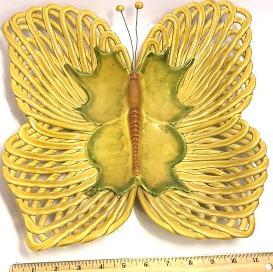 Ceramic Vietri Butterfly Serving Dish