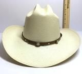 Stetson Straw Hat Size 6-7/8