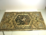 Vitage Silk Oriental Tapestry with Eagle Scene
