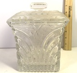 Heavy Crystal Canister with Lid