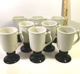 Set of Hall Ceramic Goblets with Handles