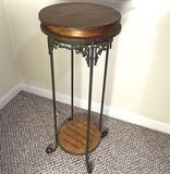 Metal and Wooden Plant Stand