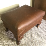 Vintage Footstool with Wooden Legs
