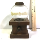 Vintage Wood and Glass Gumball Machine