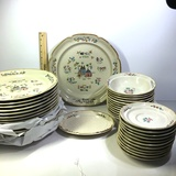 Lot of 39 Pieces of Heartland Plates, Bowls, and Dishes
