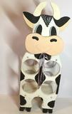 Wooden Cow Wine Holder