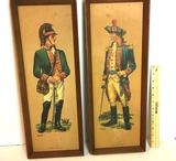 Vintage Pair of Military Portraits