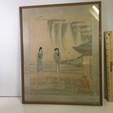Oriental Framed Silk Painting