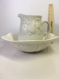 Ceramic Washbowl and Pitcher