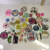Lot of Vintage Buttons and Patches