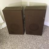 Vintage Pair of Wooden Speakers