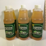 Lot of Six 32 oz. bottles of Double Strength Degreaser Concentrate by Stanley Home Products. New