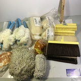 Lot of New Old Stock Stanley Cleaning Brushes, Broom Heads, Etc.