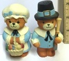 Enesco Pilgrim Bear Salt and Pepper Shakers