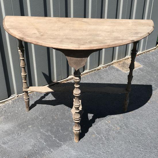 Vintage Large Half Moon Table