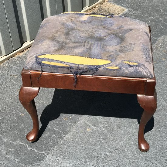 Vintage Queen Anne Style Foot Stool