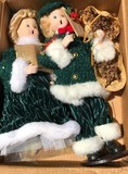 Pair of Porcelain Christmas Carolers Dolls