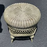Small Wicker Foot Stool