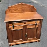 Vintage Wooden Serving Cabinet with Drawer