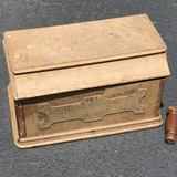 Early Wooden Sewing Box with Legs