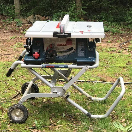 Bosch 4100 Table Saw on Rolling Stand TS3000 - Works! Hardly Used!