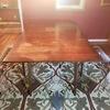 Vintage Mid Century Wood Drop Leaf Table