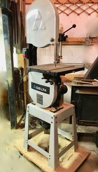 "Delta 14"" Band Saw with Stand Mod 28.276 - Works - On Rolling Dolly"