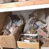 Real Cool Lot of Vintage Drawer & Cabinet Pulls - Mostly Copper, Some Porcelain