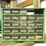Vintage Metal Hardware Organizer