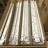 """Case of White Metal Drawer Guides 22"""" Long"""