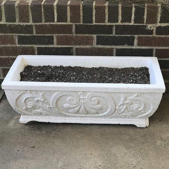 White Concrete Outdoor Planter