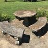 4 pc Concrete Outdoor Table & Bench Set