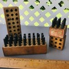 Lot of Vintage Metal Letter & Number Punches