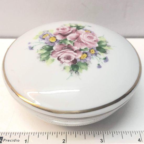 Floral Fine Porcelain Dresser Dish