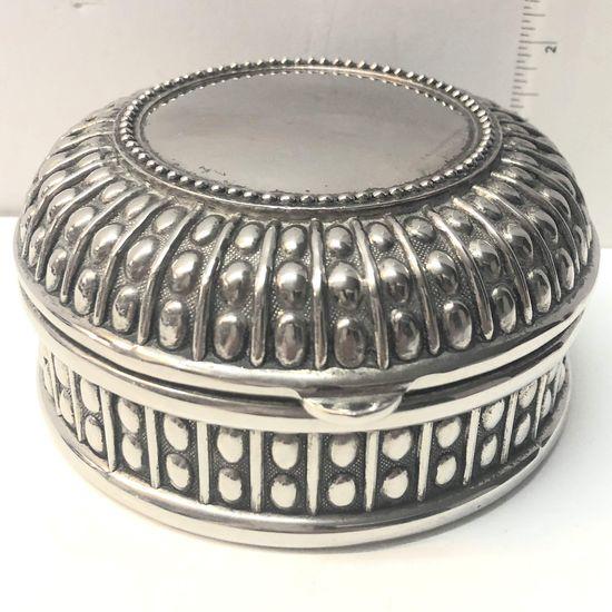 Sheridan 1980s Silver Plated Jewelry Box