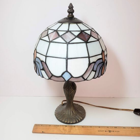 Vintage Tiffany Style Lamp Stained Glass Shade