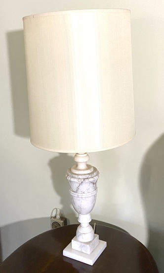 Neoclassical Italian Style Marble Table Lamp