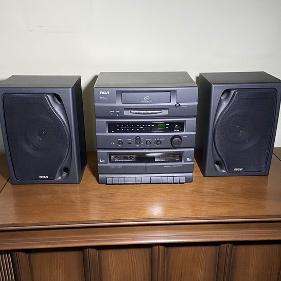 RCA RP-9115 Audio System with CD, Radio & Dual Cassette - Works