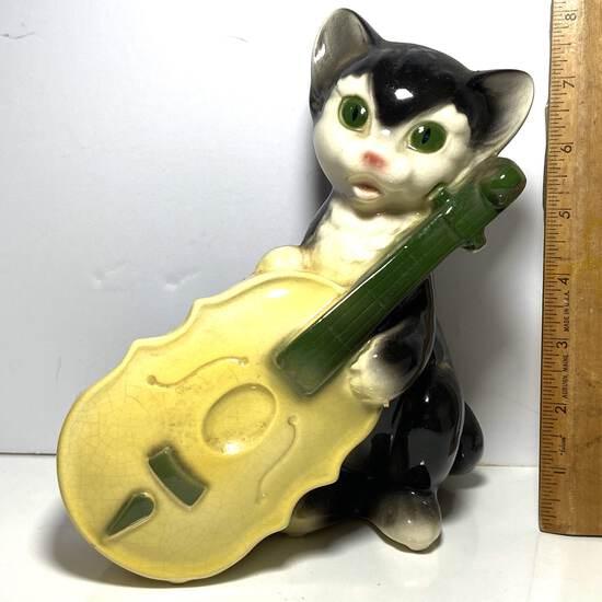 Early Pottery Kitty & Cello Planter