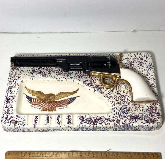 Spirit of Seventy Six Ceramic Cigar Ashtray with Faux Gun