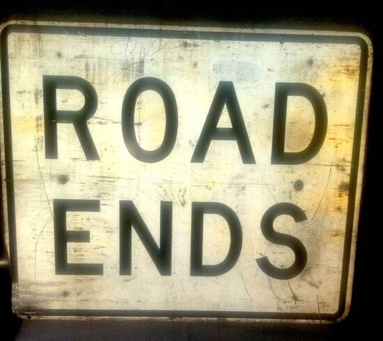 Road Ends Sign