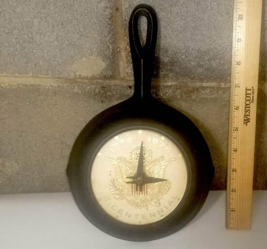 Cast Iron Skillet Clock- Bicentennial Face Plate