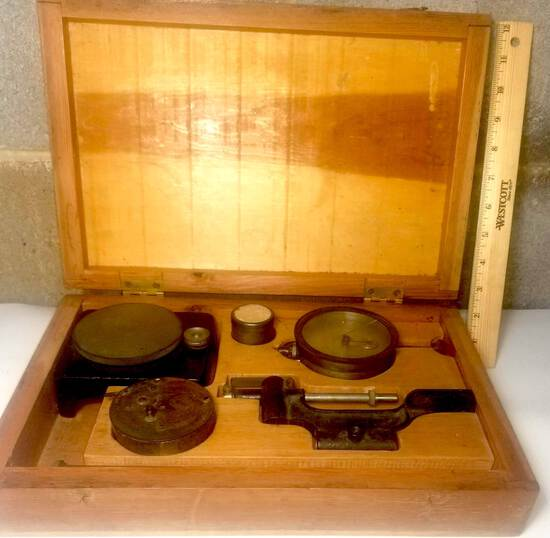 Antique Scale in Wooden Case