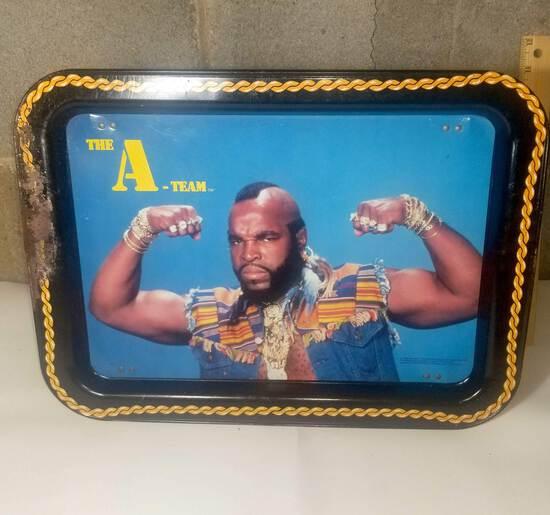 Vintage Mr. T Metal Tray Table