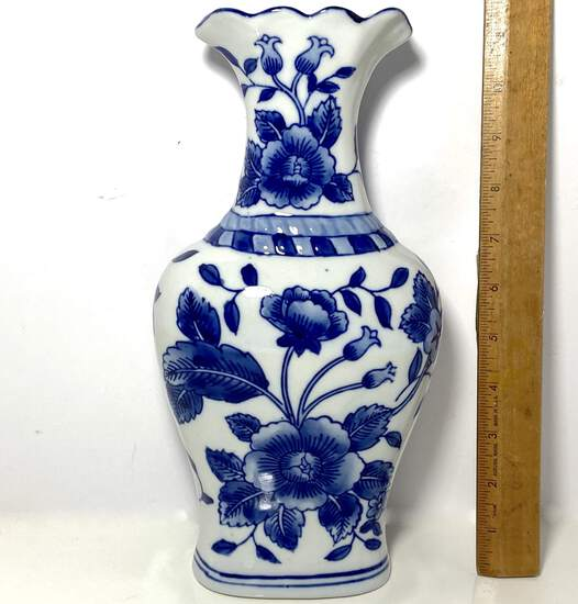 Porcelain Vase with Floral Design