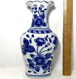 Porcelain Vase with Floral Design