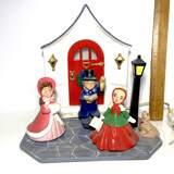 Adorable Ceramic Christmas Carolers Lamp