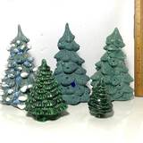 Lot of Misc Ceramic Christmas Trees