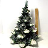 Vintage Hand Painted Ceramic Christmas Tree