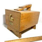 Vintage Wooden Griffin Shinemaster Shoeshine Box